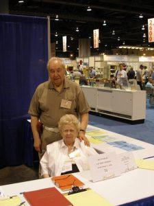 Bob and Edith Morgan at SHP Booth